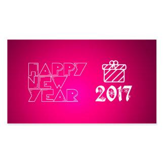 bonne année 2017 carte de visite standard