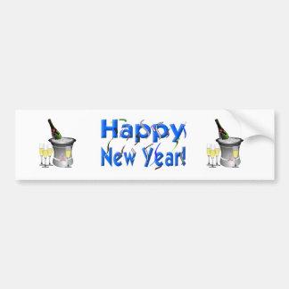 Bonne année ! avec des confettis autocollant de voiture