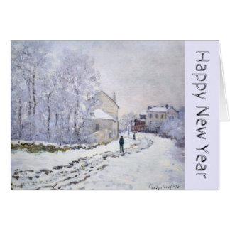 Bonne année avec la carte de voeux de Claude Monet