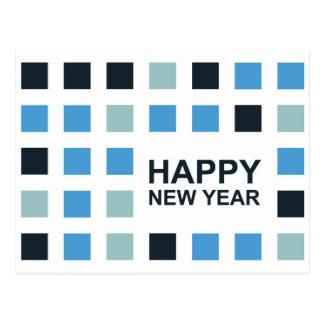 bonne année (carrés de mod) carte postale