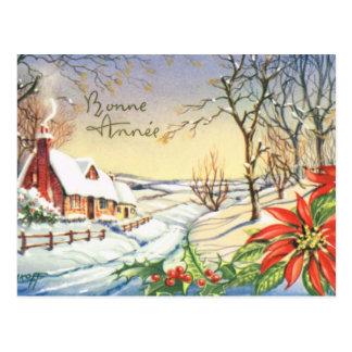 Bonne Annee, carte française vintage de nouvelle Carte Postale