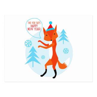 Bonne année ! carte postale