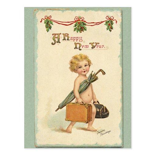 Bonne année carte postale