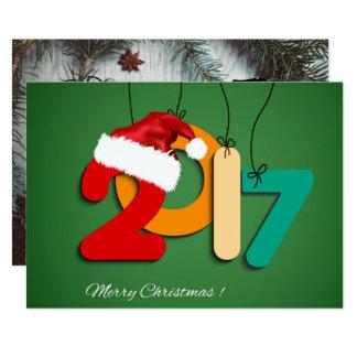 bonne année carton d'invitation  12,7 cm x 17,78 cm