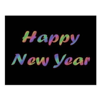Bonne année colorée carte postale