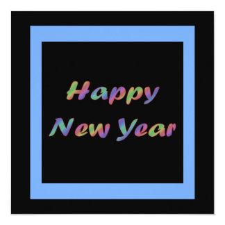 Bonne année colorée invitations