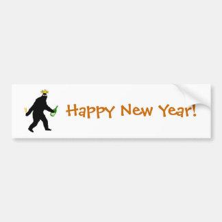 Bonne année de Bigfoot ! Autocollant De Voiture