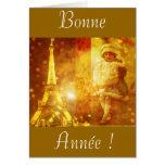 Bonne année de Paris Carte De Vœux