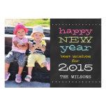 Bonne année de tableau carte photo de 2015 invitation