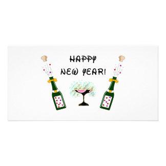 Bonne année photocarte personnalisée