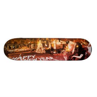 Bonne année skateboard old school  21,6 cm