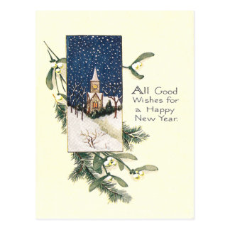 Bonne année vintage carte postale
