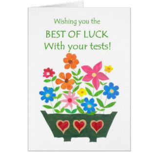 Bonne chance avec la carte d'essais - flower power