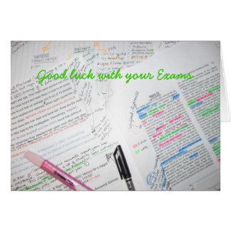 Bonne chance avec vos examens carte de vœux