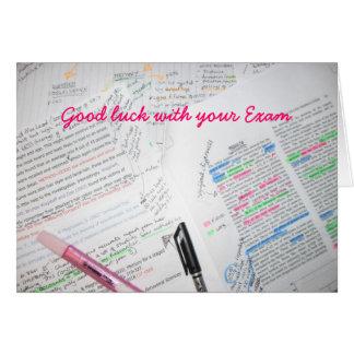 Bonne chance avec votre examen carte de vœux
