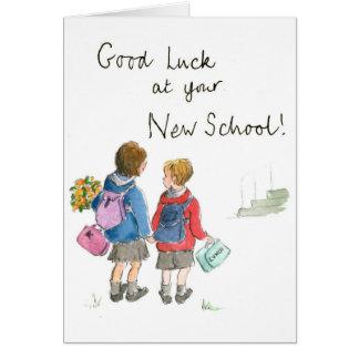 Bonne chance - commencer l'école carte de vœux