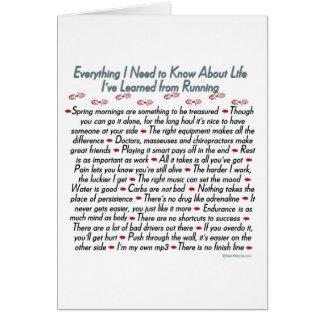 Bonne chance de leçons courantes de la vie cartes
