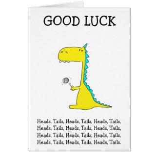 bonne chance Dino Carte De Vœux