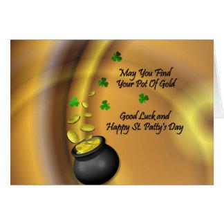 Bonne chance et St heureux Patty&apos ; jour de s Carte De Vœux