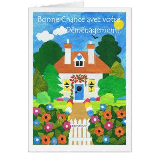Bonne chance française avec votre carte de voeux