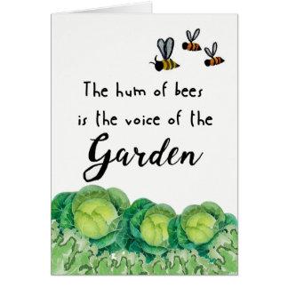 Bonne chance sur votre jardin carte de vœux
