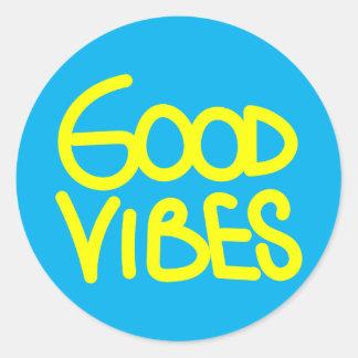 Bonne écriture de vibraphone (choisissez votre sticker rond