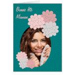bonne fête maman fleurs et photo 01 vert cartes de vœux