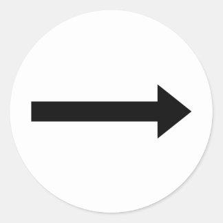 bonne icône de flèche sticker rond