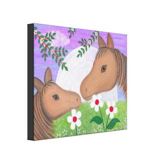 Bonne nuit baiser - les chevaux de poney de la toiles