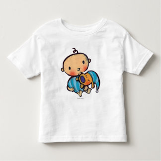 Bonne nuit chiot adorable de baisers dans des t-shirt pour les tous petits