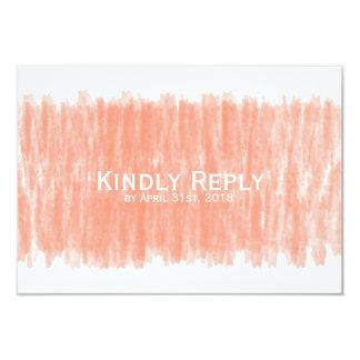 Bonne réponse d'aquarelle de corail épousant RSVP Carton D'invitation 8,89 Cm X 12,70 Cm
