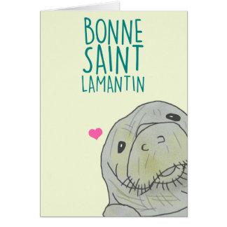 Bonne Saint Lamantin Carte De Vœux