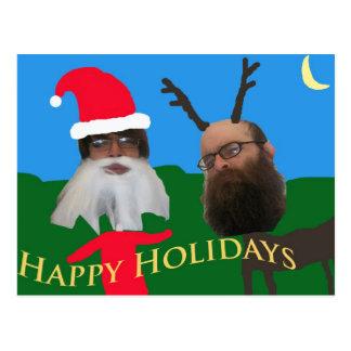 bonnes fêtes 1 carte postale