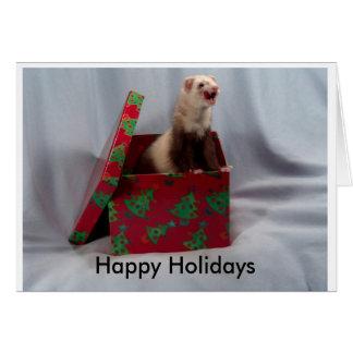 Bonnes fêtes carte de furet