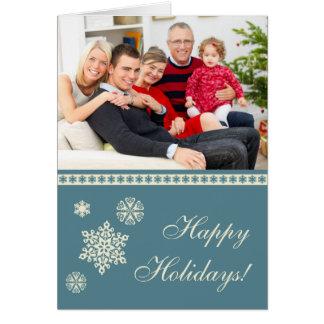 Bonnes fêtes carte de Noël de flocons de neige