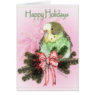 Bonnes fêtes carte de perruche