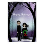 Bonnes fêtes carte de voeux de couples de Goth