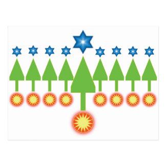 Bonnes fêtes carte de voeux - Noël Hanoukka
