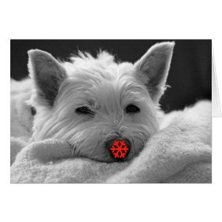 Bonnes fêtes - carte mignonne de chien de Westie