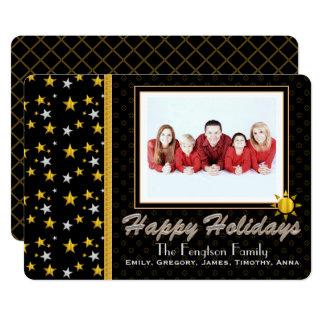 Bonnes fêtes carte photo personnalisé carton d'invitation  12,7 cm x 17,78 cm