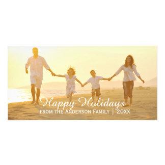 Bonnes fêtes - carte photo simple photocartes personnalisées