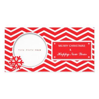 Bonnes fêtes carte postale cartes de vœux avec photo