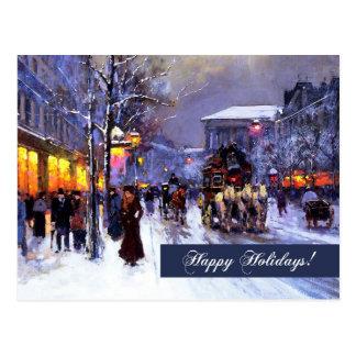 Bonnes fêtes. Carte postale de beaux-arts