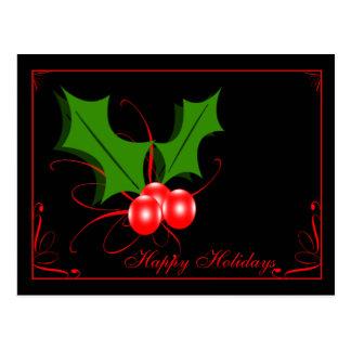 Bonnes fêtes carte postale de Noël