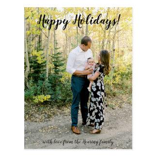 Bonnes fêtes carte postale de photo