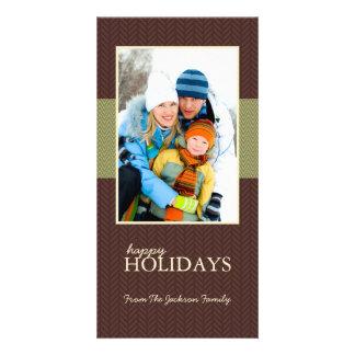 Bonnes fêtes cartes photos en arête de poisson de  modèle pour photocarte