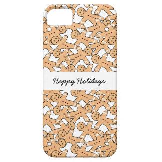 Bonnes fêtes cas de téléphone de bonhommes en pain iPhone 5 case