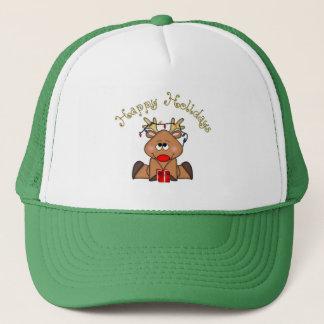 Bonnes fêtes casquette de renne de Rudy