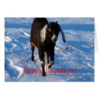 Bonnes fêtes chèvre de Nubian Cartes