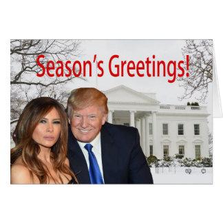 Bonnes Fêtes de Donald et de Melania Carte De Vœux